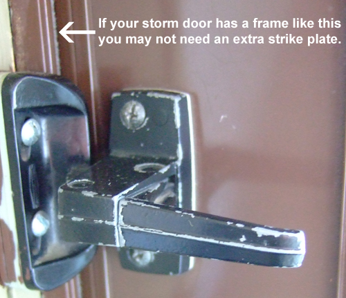 Storm Door Hardware Strike Plate Free Shipping